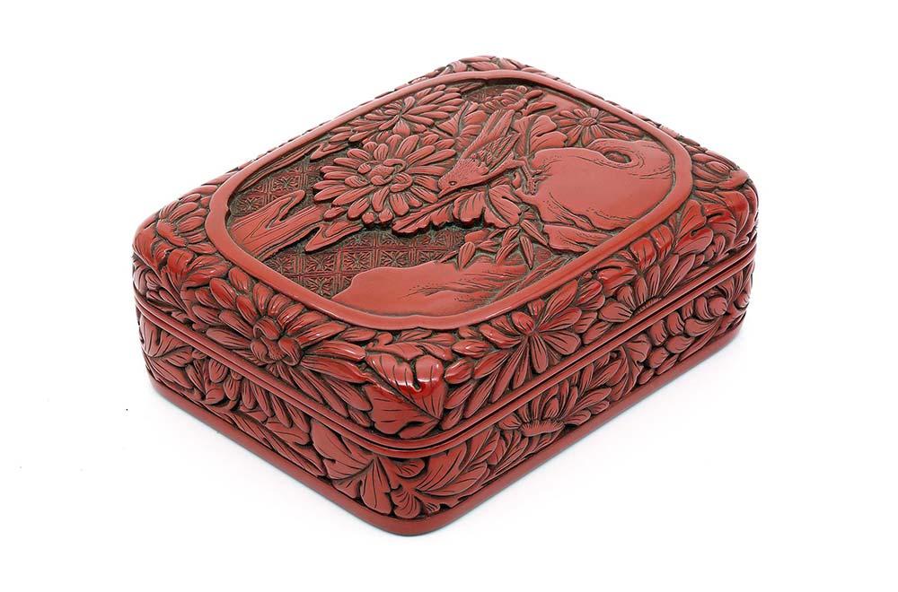 一見古美術生活 ‧ 難得一見 【剔紅花鳥紋盒】